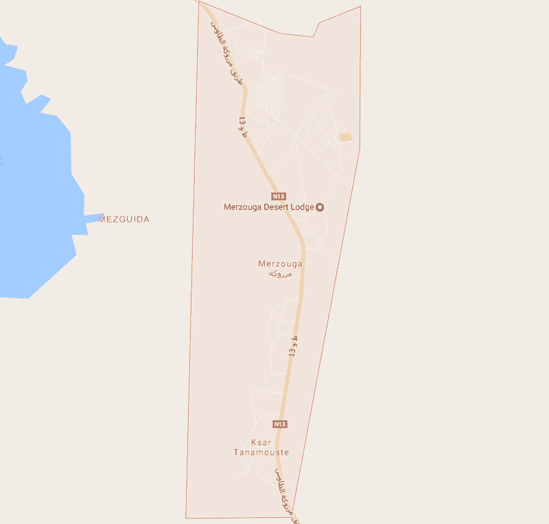 Onde Ficar em Merzouga no Marrocos: Mapa