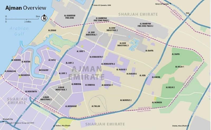 Onde Ficar em Ajman: Mapa